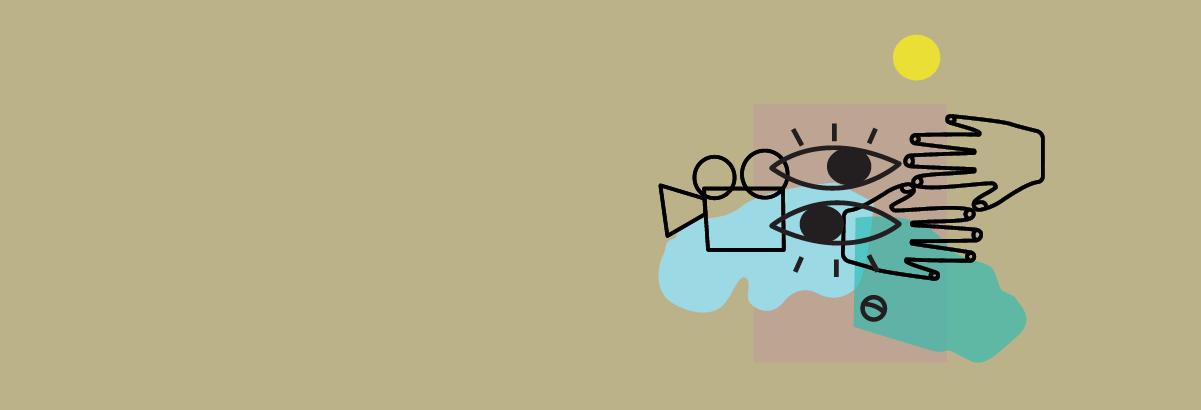 Ilustracja zapowiadająca letnie seanse kina plenerowego.